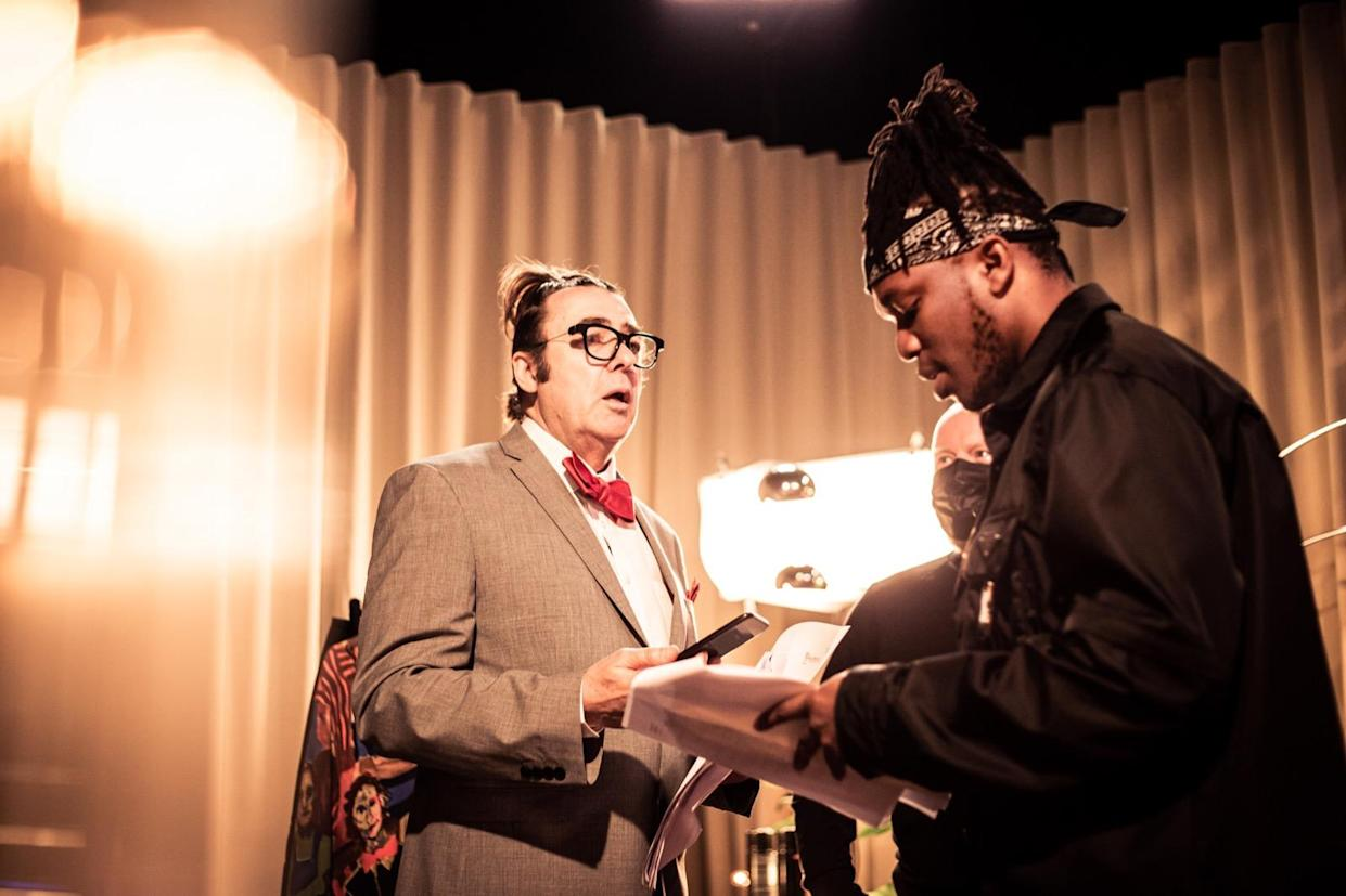 KSI on set with Jonathan Ross (Lee Malone Photography/PA)