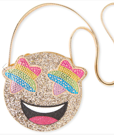 Glitter Rainbow Star Eye Emoji Bag