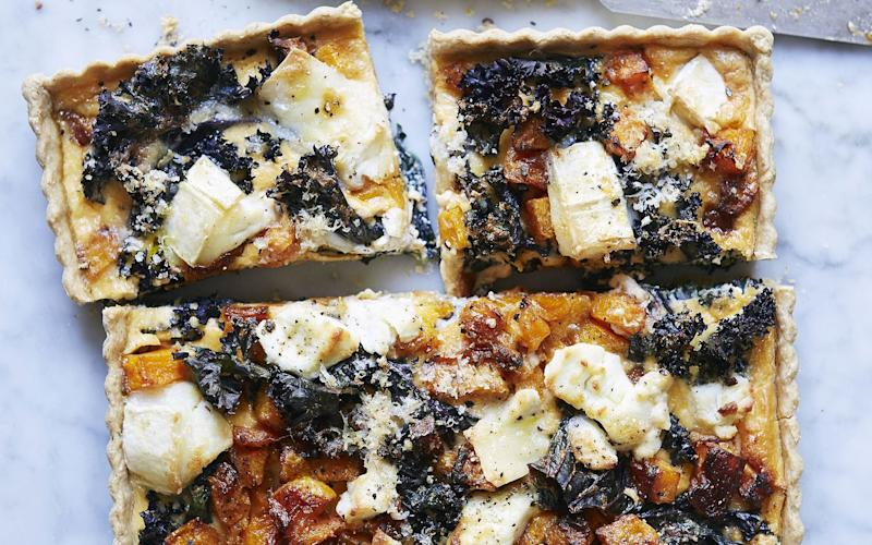 This kale tart is guaranteed to cheer