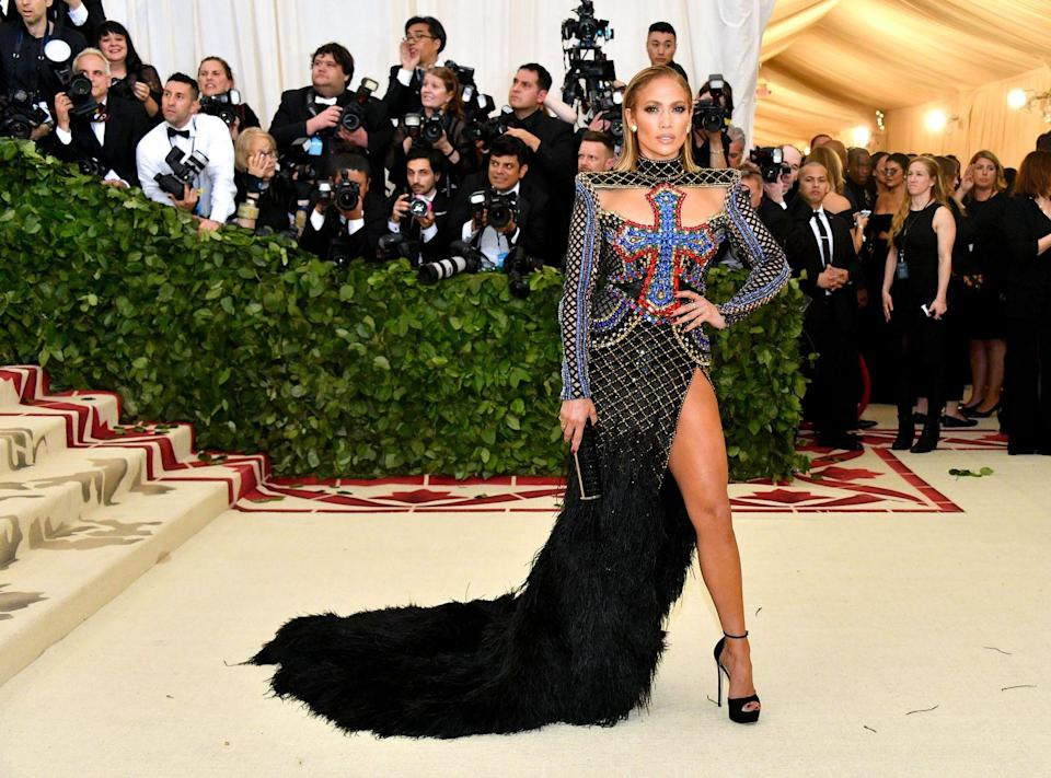 <p>Her 2018 Met Gala dress anyone? That gown was made for the leg pop.</p>