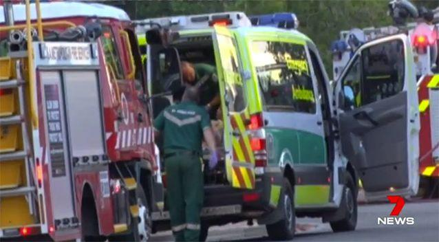 The nine-year-old girl was taken to the Women's and Children's Hospital. Source: 7 News
