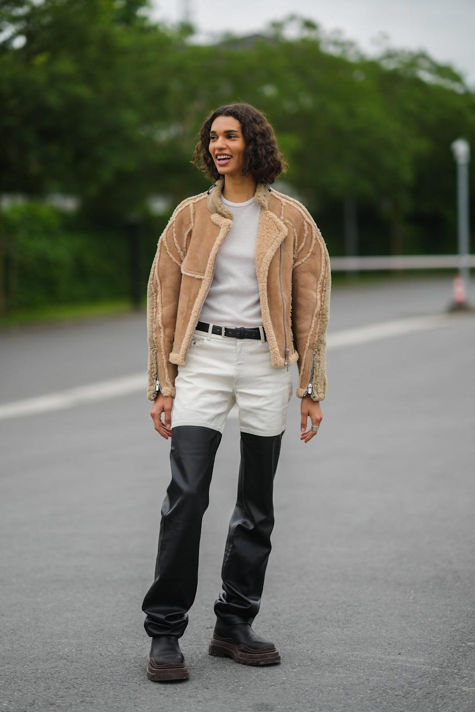<p>Cozy shearling is made for layering up. Look for shearling-lined jackets or longline coats to give your look a slightly '70s vibe. </p>