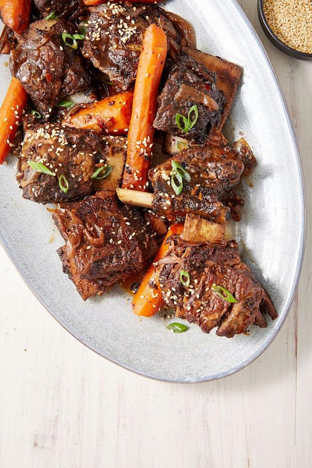 """<p>The slow cooking guarantees tenderness.</p><p>Get the recipe from <a href=""""https://www.delish.com/cooking/recipe-ideas/a29492060/slow-cooker-short-ribs-recipe/"""" target=""""_blank"""">Delish</a>.</p>"""