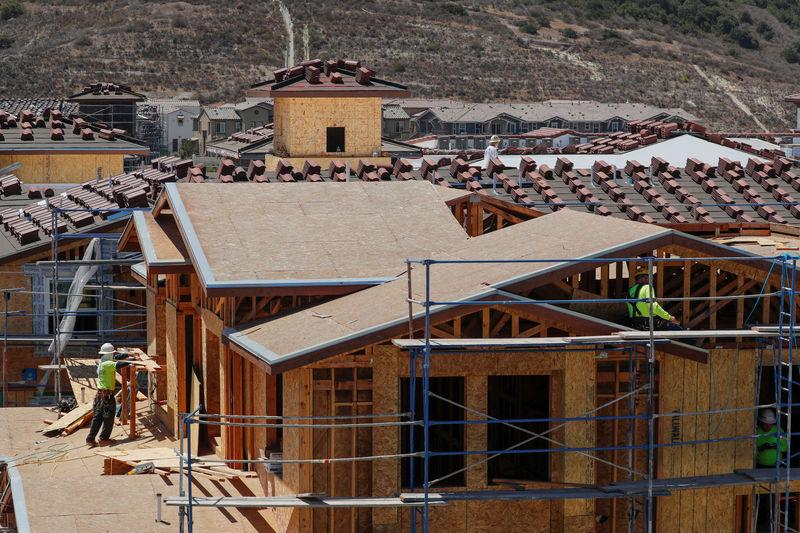 FILE PHOTO: Development and construction continues on a large scale housing project of over 600 homes in Oceanside, California, U.S., June 25, 2018. REUTERS/Mike Blake