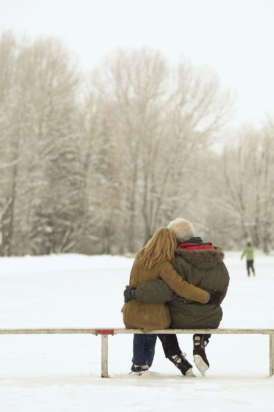 <p>Hold hands with your better half while you skate around a scenic rink, then warm up by treating yourselves to some hot cocoa.</p>