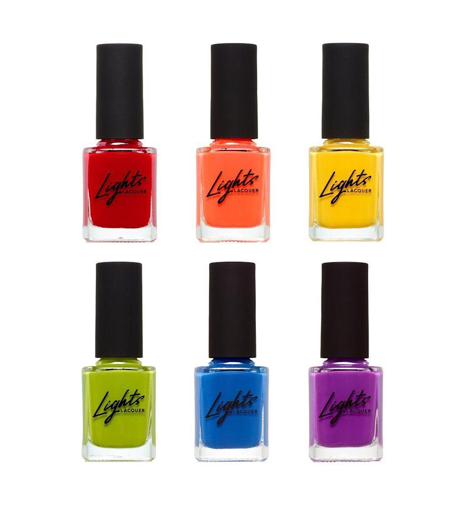 """<p>lightslacquer.com</p><p><strong>$52.00</strong></p><p><a href=""""https://lightslacquer.com/collections/sweet-as-summer/products/sweet-as-summer-bundle"""" rel=""""nofollow noopener"""" target=""""_blank"""" data-ylk=""""slk:Shop Now"""" class=""""link rapid-noclick-resp"""">Shop Now</a></p><p>If you're not into getting your nails done, then you might not know that it's actually a pretty pricey habit. It's also why giving those who love manicures some fun, new nail polish can be a great idea. If you're looking for a place to shop for polishes, try starting at a fan favorite brand like <a href=""""https://lightslacquer.com/collections/singles"""" rel=""""nofollow noopener"""" target=""""_blank"""" data-ylk=""""slk:Lights Lacquer"""" class=""""link rapid-noclick-resp"""">Lights Lacquer</a>.</p>"""