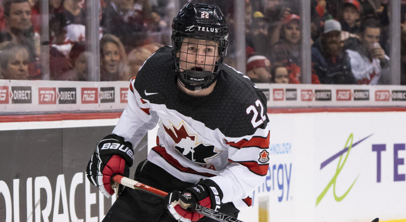 Alexis Lafrenière is reportedly returning to the World Juniors. (Photo by Rich Lam/Getty Images)