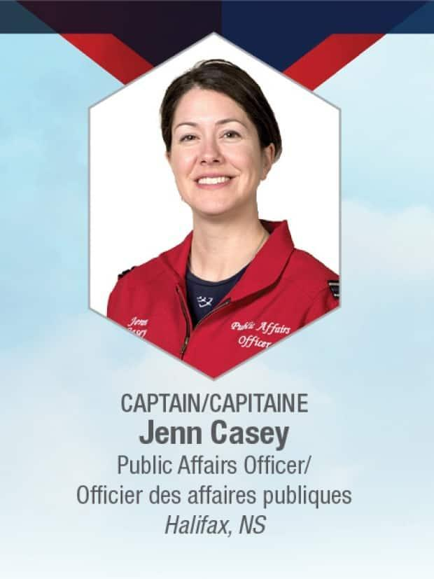 The legacy of Snowbirds Capt. Jennifer Casey will be honoured in a memorial park to be built near the Kamloops airport.  (Royal Canadian Air Force - image credit)