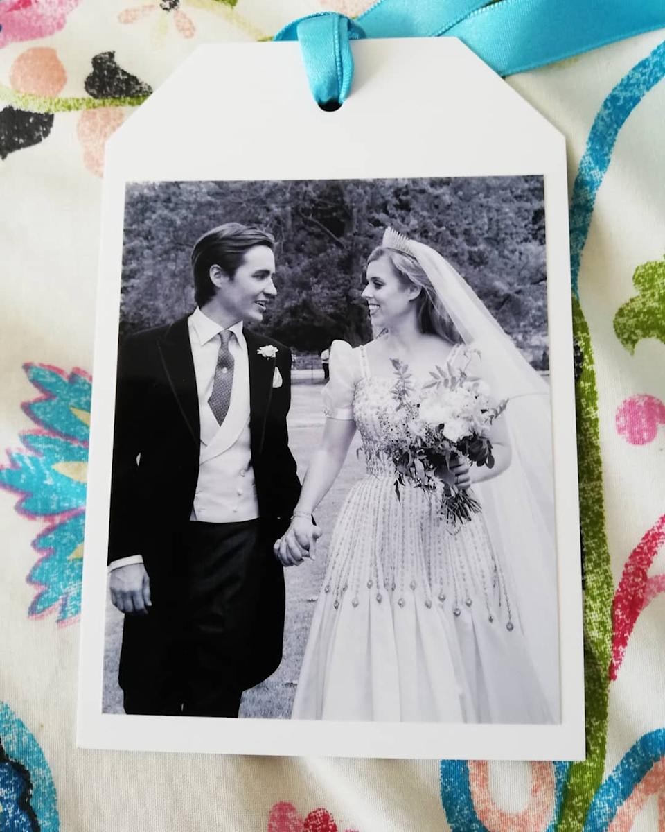 The never before seen photo of the wedding was sent by the Duchess of York. Photo: Instagram/sarahji72