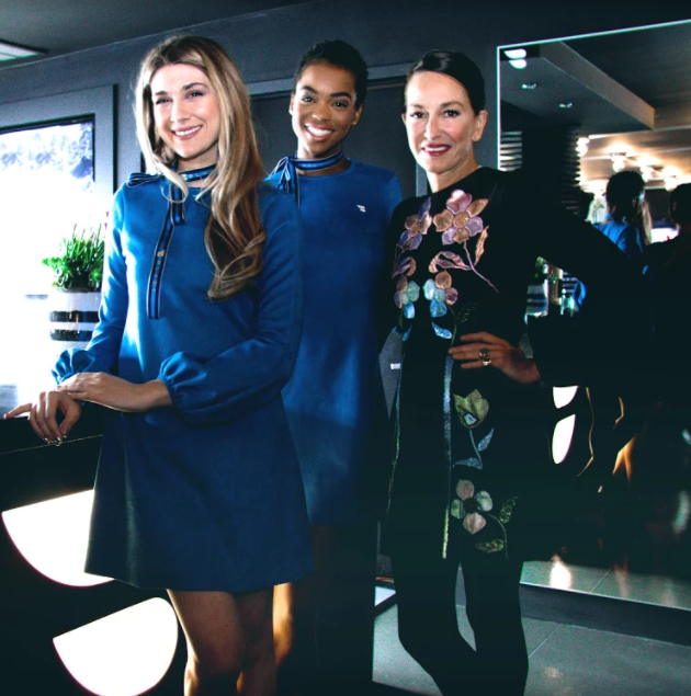 Cynthia Rowley designed new uniforms for BLADE's customer experience team. (Photo: BLADE)