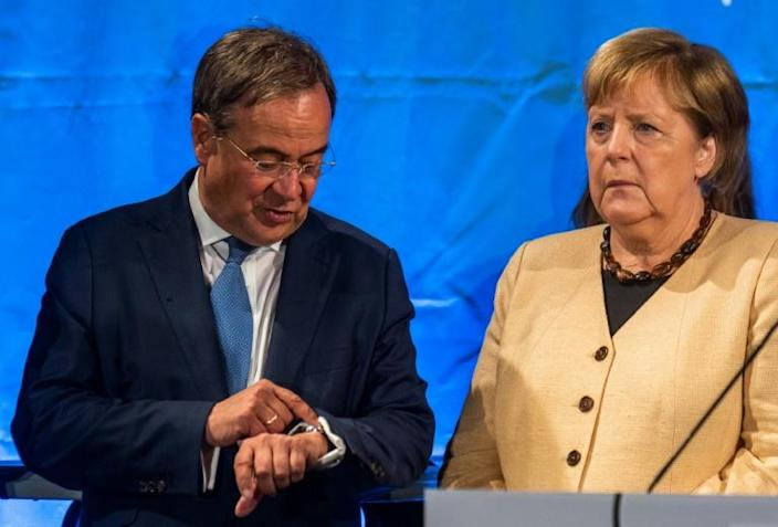 Laschet was for some time the clear favourite to become Germany's next chancellor when Merkel bows out of politics (AFP/John MACDOUGALL)