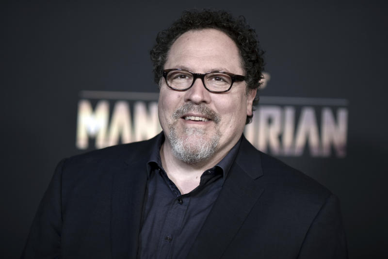 "Jon Favreau attends the LA premiere of ""The Mandalorian,"" at the El Capitan Theatre, Wednesday, Nov. 13, 2019, in Los Angeles. (Photo by Richard Shotwell/Invision/AP)"
