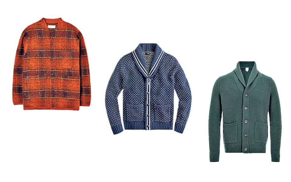 Cardigans are now considered characterful, cool and, even more surprisingly, rugged