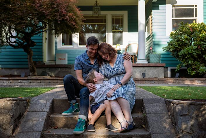 Garrett and Megan Warren, with their son, Reeve, 6, decided to relocate to Portland, Ore., from Los Angeles in 2016 because of drought conditions in California.