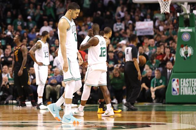 Despite coming up short in Game 7 Sunday night, Jayson Tatum and the Celtics are in great position for the future. (Getty)