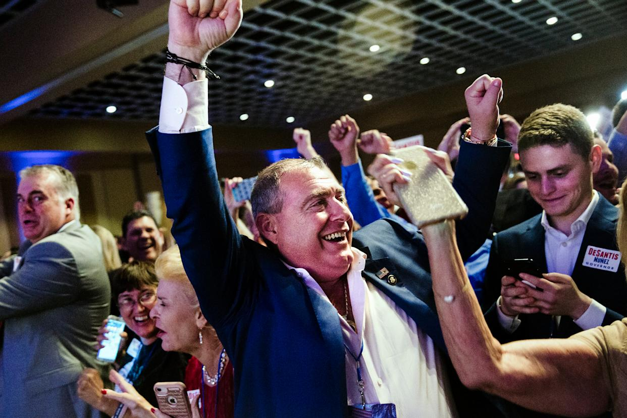 Lev Parnas, a businessman and associate of Rudolph Giuliani, at an election night party for Republicans in Orlando, Fla., Nov. 6, 2018. (Scott McIntyre/The New York Times)