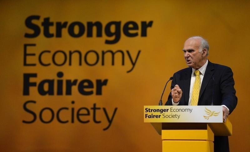 Britain's Business Secretary Vince Cable speaks at the Liberal Democrats autumn conference in Glasgow