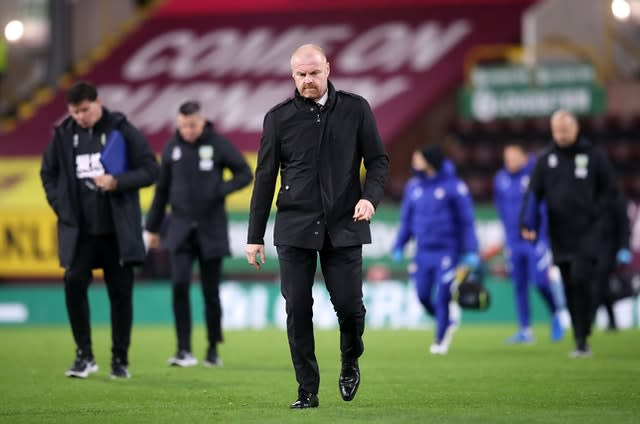 It was another difficult afternoon for Burnley boss Sean Dyche