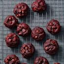"""<p>A spin on your classic chocolate chip cookie recipe, these sweet treats are studded with rich chocolate chips and colored a spooky, vibrant red.</p><p><em><a href=""""https://www.goodhousekeeping.com/food-recipes/dessert/a34731388/red-velvet-cookie-recipe/"""" rel=""""nofollow noopener"""" target=""""_blank"""" data-ylk=""""slk:Get the recipe for Red Velvet Cookies »"""" class=""""link rapid-noclick-resp"""">Get the recipe for Red Velvet Cookies »</a></em></p>"""
