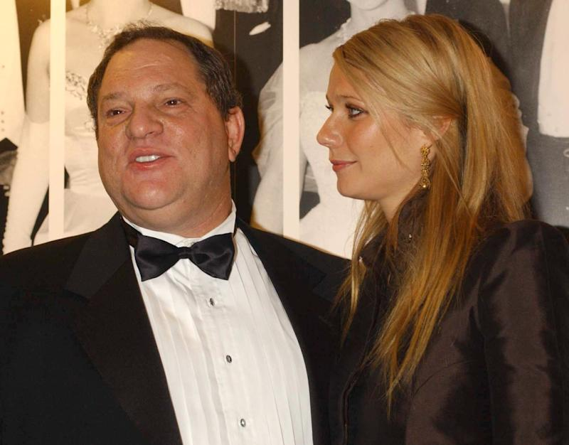 Harvey Weinstein and Gwyneth Paltrow in 2002. (Yui Mok - PA Images via Getty Images)