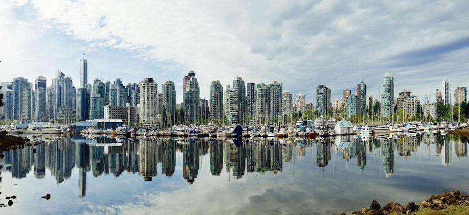<p>The only North American city to make it into the top ten, Vancouver in Canada is the fifth best city to live in. The seaport in British Colombia has high levels of personal safety. (Rex)</p>