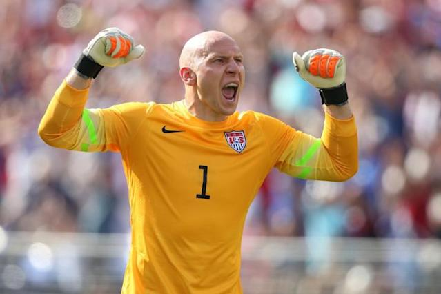 Brad Guzan will likely be the USMNT's first-choice keeper at the Gold Cup, at least for the group stage. (Getty)