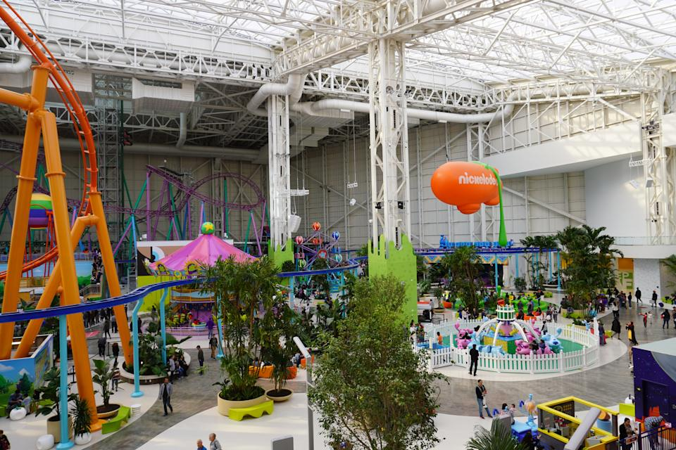 Nickelodeon Universe at American Dream boasts 35 rides and appeals to a mass audience of thrill-seekers.