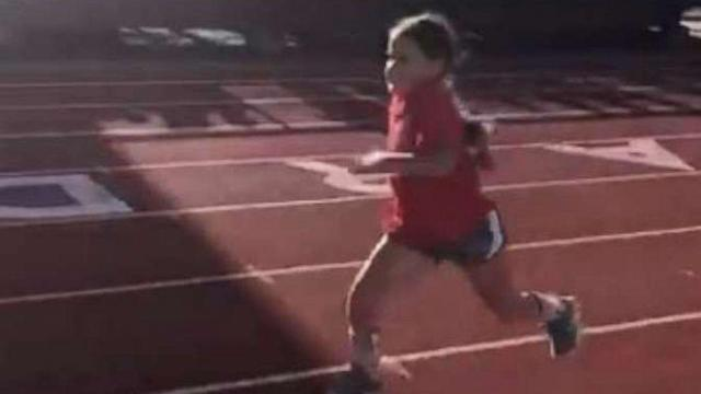 Girl with spina bifida chases her dreams by running in her 1st track race (ABC News)