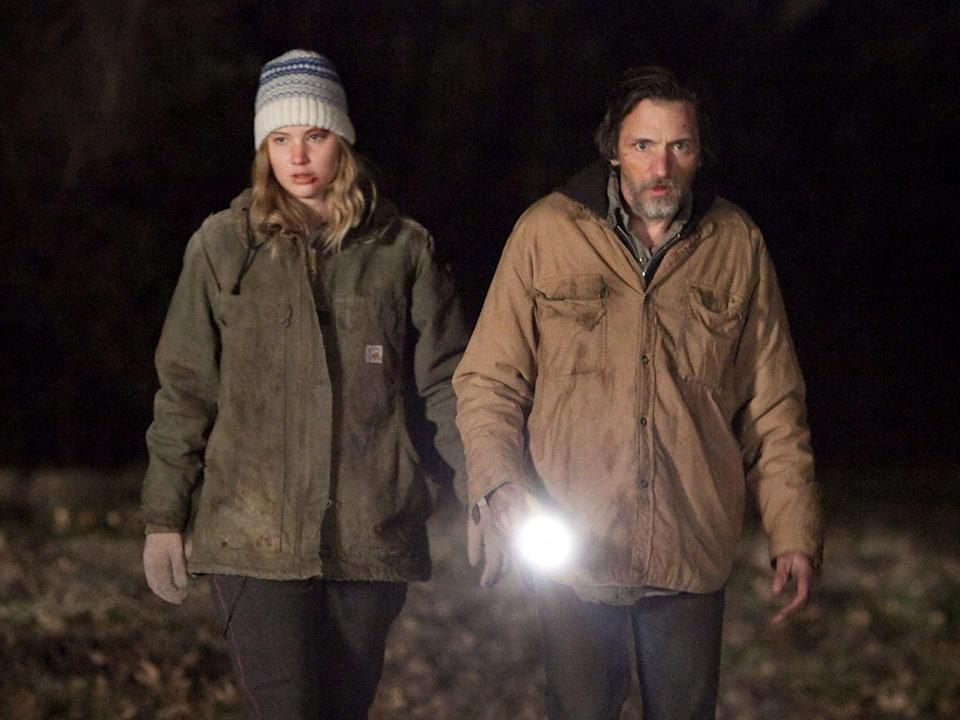 Hawkes and Jennifer Lawrence in the Oscar-nominated 'Winter's Bone'Moviestore/Shutterstock