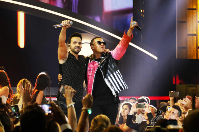 "<p>""Despacito"" was a global, genre-bridging smash. The bilingual, multicultural aspect takes on added import in the age of Donald Trump. This would be would be the first song primarily recorded in a foreign language to be nominated here since Los Lobos' ""La Bamba.""<br>(Photo: John Parra/Getty Images) </p>"