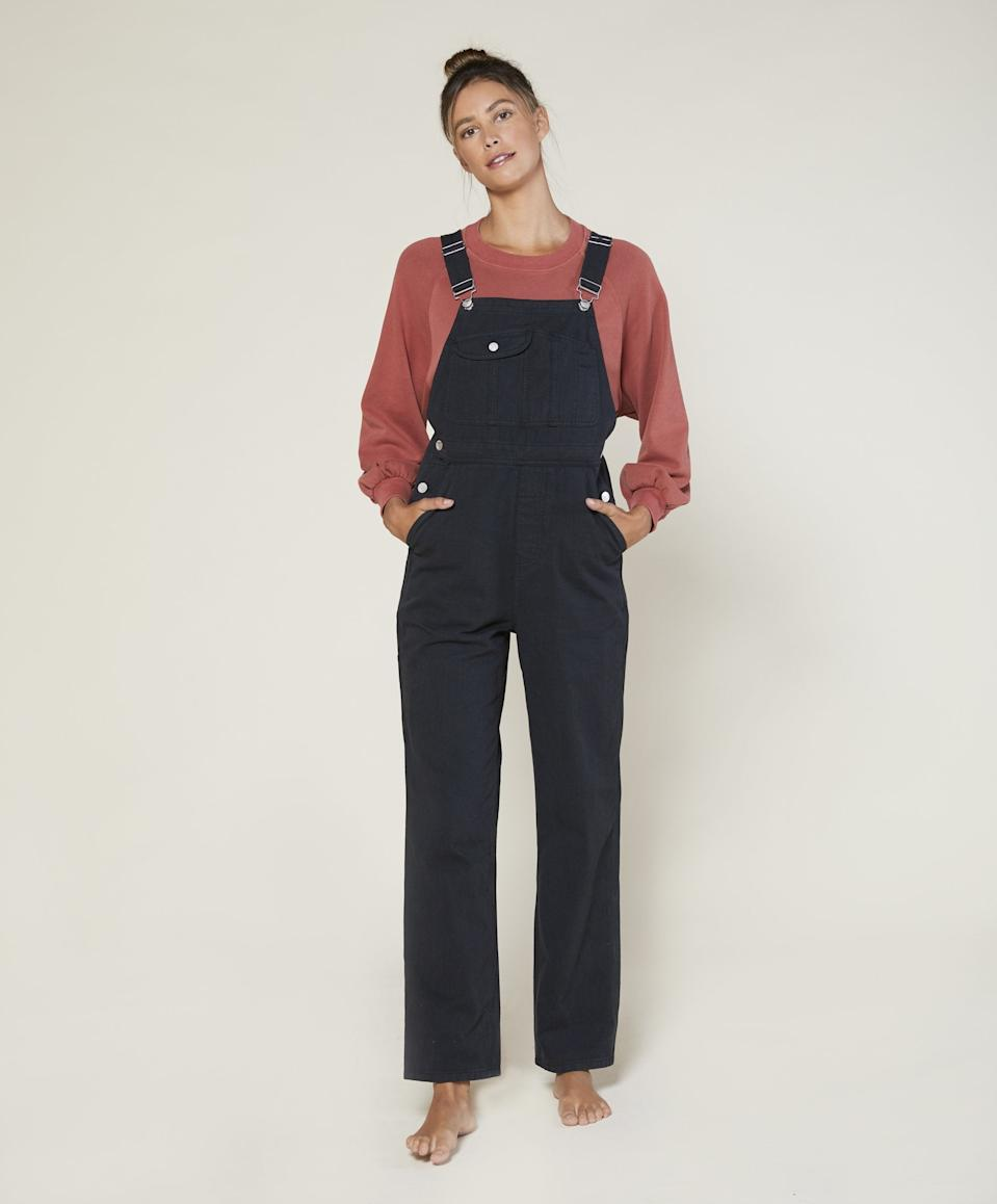 """<br><br><strong>Outerknown</strong> Voyage Overalls, $, available at <a href=""""https://go.skimresources.com/?id=30283X879131&url=https%3A%2F%2Fwww.outerknown.com%2Fproducts%2Fvoyage-overalls-pitch-black%3Fvariant%3D31723200086039"""" rel=""""nofollow noopener"""" target=""""_blank"""" data-ylk=""""slk:Outerknown"""" class=""""link rapid-noclick-resp"""">Outerknown</a>"""