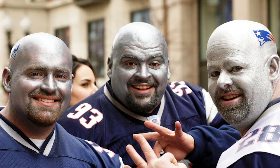 Patriots fans ready for game time. (Photo: Getty Images)