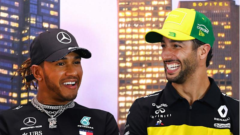Ricciardo envious as Hamilton prepares to equal Schumacher's F1 wins record