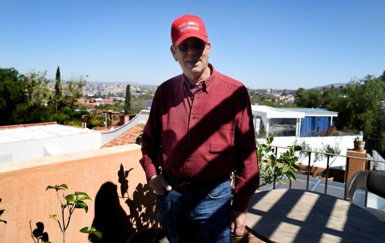 Michael Gerber, a US retired citizen, poses for a photo at his home in San Miguel de Allende, Mexico's Guanajuato state