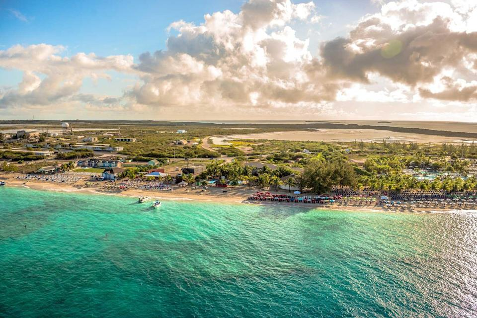 Grand Turk island, in the Turks and Caicos