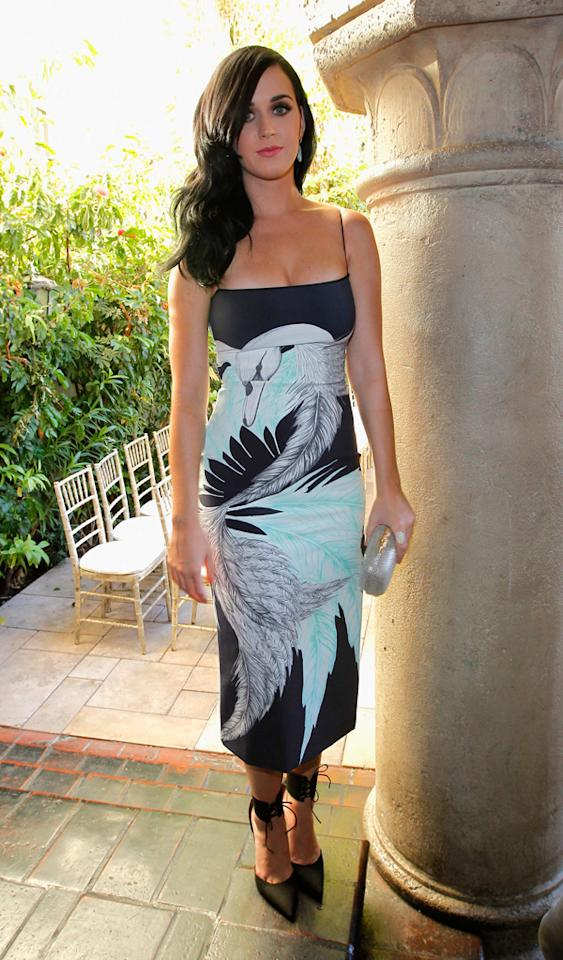 LOS ANGELES, CA - OCTOBER 25:  Singer Katy Perry attends CFDA/Vogue Fashion Fund Event hosted by Lisa Love and Mark Holgate at Chateau Marmont on October 25, 2012 in Los Angeles, California.  (Photo by Donato Sardella/WireImage)