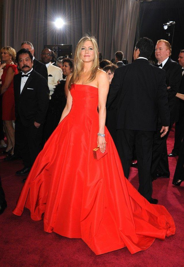Jennifer Aniston arriving for the 85th Academy Awards at the Dolby Theatre, Los Angeles.
