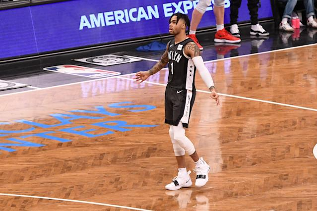 While he is set to become a restricted free agent this offseason, D'Angelo Russell said he would love to remain with the Brooklyn Nets. (Matteo Marchi/Getty Images)