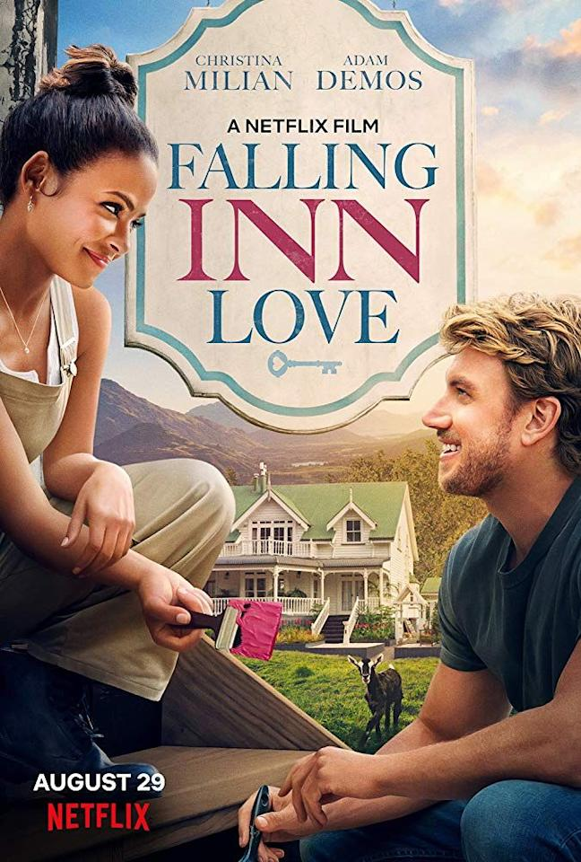 "<p>Christina Milian plays a California executive who moves to New Zealand in order to remodel an old house. The story is almost as beautiful as <a href=""https://www.countryliving.com/life/entertainment/a28858665/netflix-falling-inn-love-filming-location/"">the cities where it was filmed.</a></p><p><a class=""body-btn-link"" href=""https://www.netflix.com/title/80999781"" target=""_blank"">STREAM IT</a></p>"