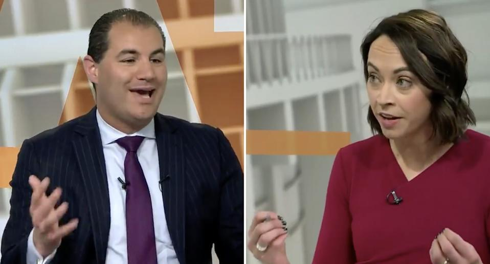 Jami-Lee Ross with Tova O'Brien on Newshub Nation.