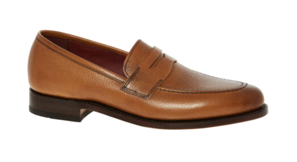 LOAKE Light Brown Leather Loafer