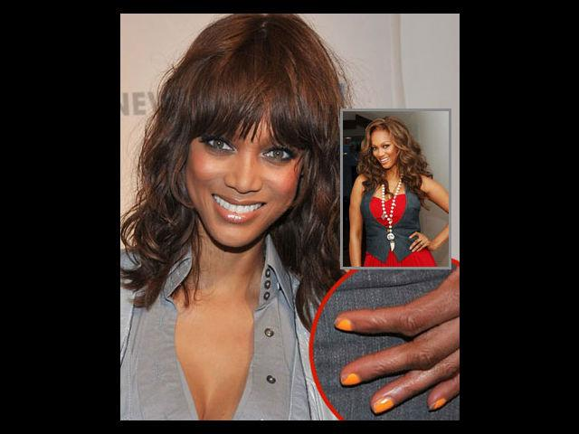 <b>Chipped Nail Colour</b><br>See how super stylish, Tyra Banks, presenter and judge of America's Next Top Model, got caught for not taking care of her trendy orange nails. No matter how good your manicure might look but chipped nail colour for any public appearances is a big no-no.<br><b>Fix The Blunder:</b> Get your manicure done on time to avoid this mistake. Also, apply a base coat and a top coat to make the nail colour last longer. Best fix is that whenever you notice your nail colour is chipping, remove it immediately.