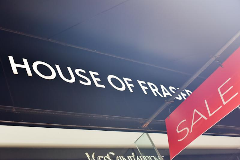 LONDON, UNITED KINGDOM - AUG 10: House of Fraser has been bought by Sports Direct for £90 million after going into administration. PHOTOGRAPH BY Matthew Chattle / Barcroft Images (Photo credit should read Matthew Chattle / Barcroft Images / Barcroft Media via Getty Images)