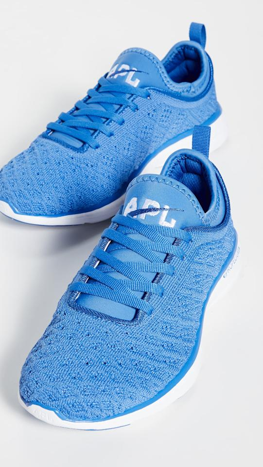 """<p>If you're a fan of the brand, there's no doubt you'll want this bright blue <a href=""""https://www.popsugar.com/buy/APL-TechLoom-Phantom-Sneaker-492256?p_name=APL%20TechLoom%20Phantom%20Sneaker&retailer=shopbop.com&pid=492256&price=165&evar1=fit%3Aus&evar9=45652306&evar98=https%3A%2F%2Fwww.popsugar.com%2Ffitness%2Fphoto-gallery%2F45652306%2Fimage%2F46638243%2FAPL-TechLoom-Phantom-Sneaker&list1=shoes%2Csneakers%2Crunning%20shoes%2Cfitness%20gear%2Cfitness%20shopping&prop13=mobile&pdata=1"""" rel=""""nofollow"""" data-shoppable-link=""""1"""" target=""""_blank"""" class=""""ga-track"""" data-ga-category=""""Related"""" data-ga-label=""""https://www.shopbop.com/techloom-phantom-sneakers-apl-athletic/vp/v=1/1550595762.htm?fm=search-viewall-shopbysize&amp;os=false"""" data-ga-action=""""In-Line Links"""">APL TechLoom Phantom Sneaker</a> ($165).</p>"""