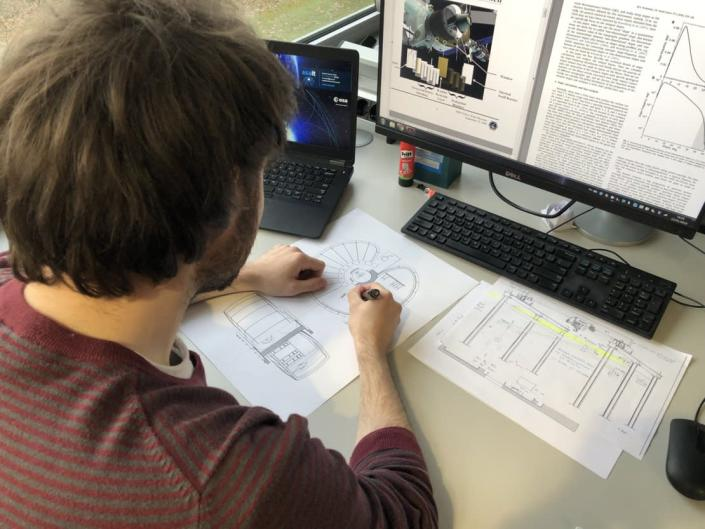 Architectural engineering student Angelus Chrysovalantis Alfatzis helped develop a new sustainable concept for a moon base. <cite>ESA</cite>