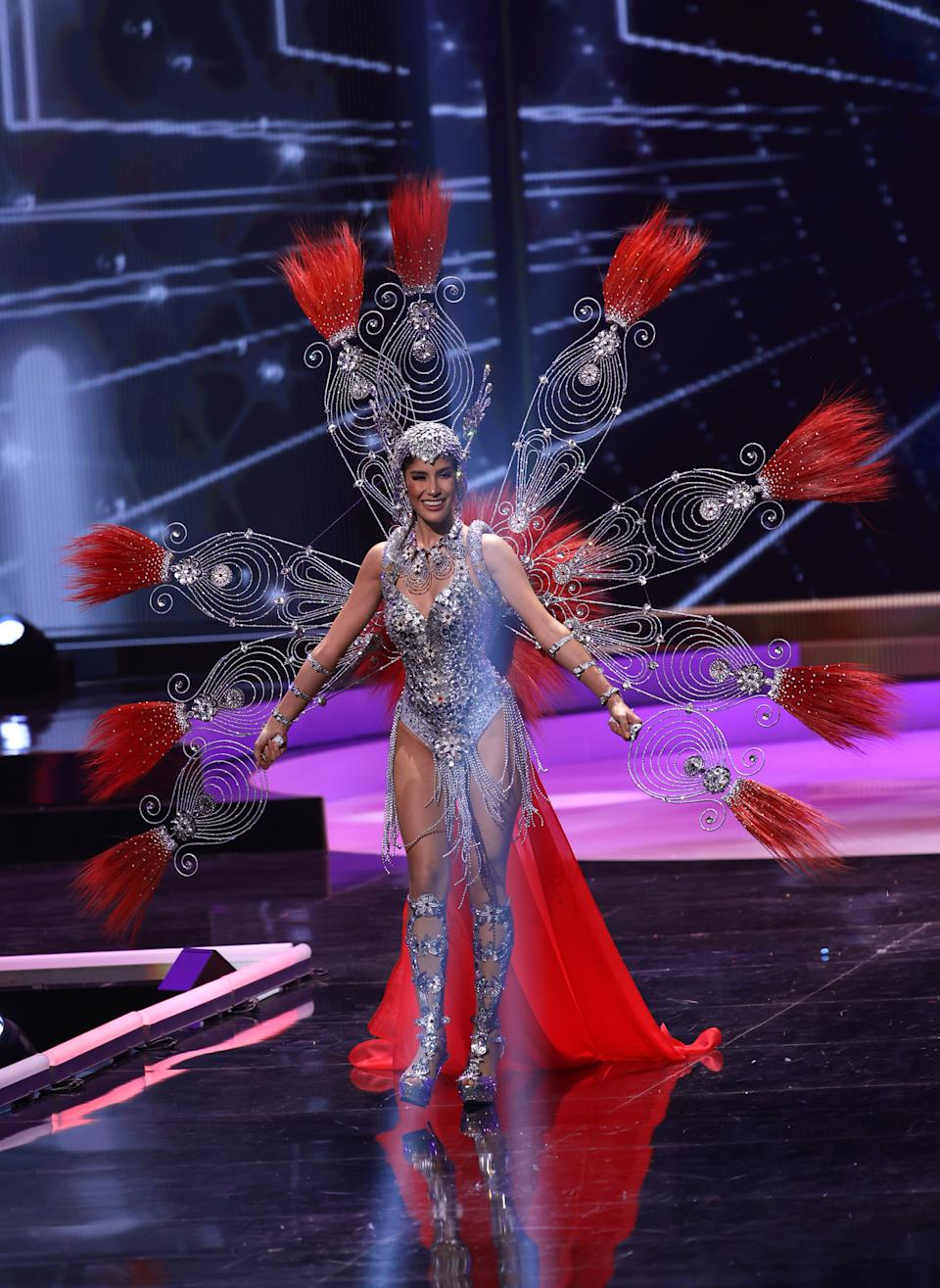<p>Miss Universe Paraguay Vanessa Castro Guillén appears onstage at the Miss Universe 2021 - National Costume Show at Seminole Hard Rock Hotel & Casino on May 13, 2021 in Hollywood, Florida. (Photo by Rodrigo Varela/Getty Images)</p>