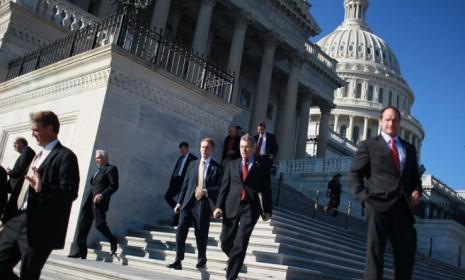 Members of Congress leave the Capital after the House went on recess for Thanksgiving.