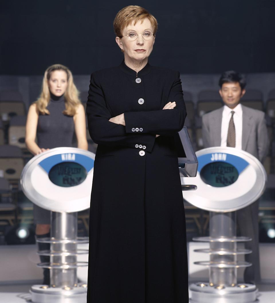 Anne Robinson in the Weakest Link studio (Photo: NBC via Getty Images)