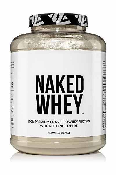 "<p><strong>NAKED nutrition</strong></p><p>amazon.com</p><p><strong>$89.99</strong></p><p><a rel=""nofollow"" href=""https://www.amazon.com/dp/B00NBDMN8U"">SHOP NOW</a></p><p>Some companies tout their protein powder as healthy, but when you look at the ingredient list, you see additives and artificial flavorings. That's not the case here, which is why Pallinski-Wade is a fan. ""It contains just one ingredient - whey protein,"" she says. The fact that it's grass-fed is another positive. Many nutritionists recommend foods from <a rel=""nofollow"" href=""https://www.womansday.com/health-fitness/nutrition/a59364/red-meat-healthy-tips/"">grass-fed animals</a> since these options contain more of the essential nutrients our bodies need. In the case of whey, the protein powder will have more <a rel=""nofollow"" href=""https://www.womansday.com/food-recipes/food-drinks/g2176/hearty-healthy-recipes/"">heart-healthy</a> omega-3 fatty acids.</p><p>Protein per serving: 25g</p>"