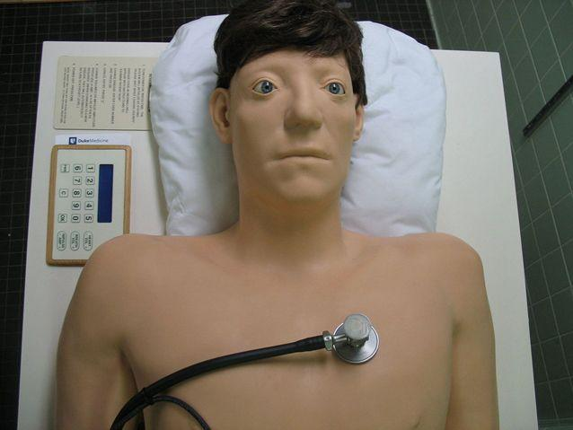 The training programme is big step forward from usual medical training dolls. Source: Wikipedia